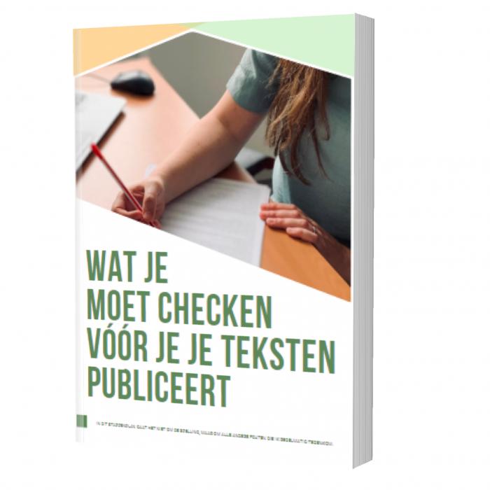 Checklist consistentie - Tekst en letters